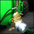 Heavy duty rear discharge valve