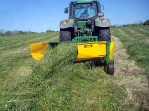 Moving swath to one side